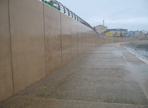 Clear anti graffiti coating at Blackpool